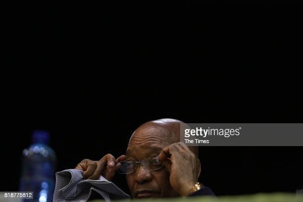 President Jacob Zuma during a Nelson Mandela Memorial Lecture to commemorate Mandela Day on July 18 2017 in Richards Bay South Africa Zuma said there...