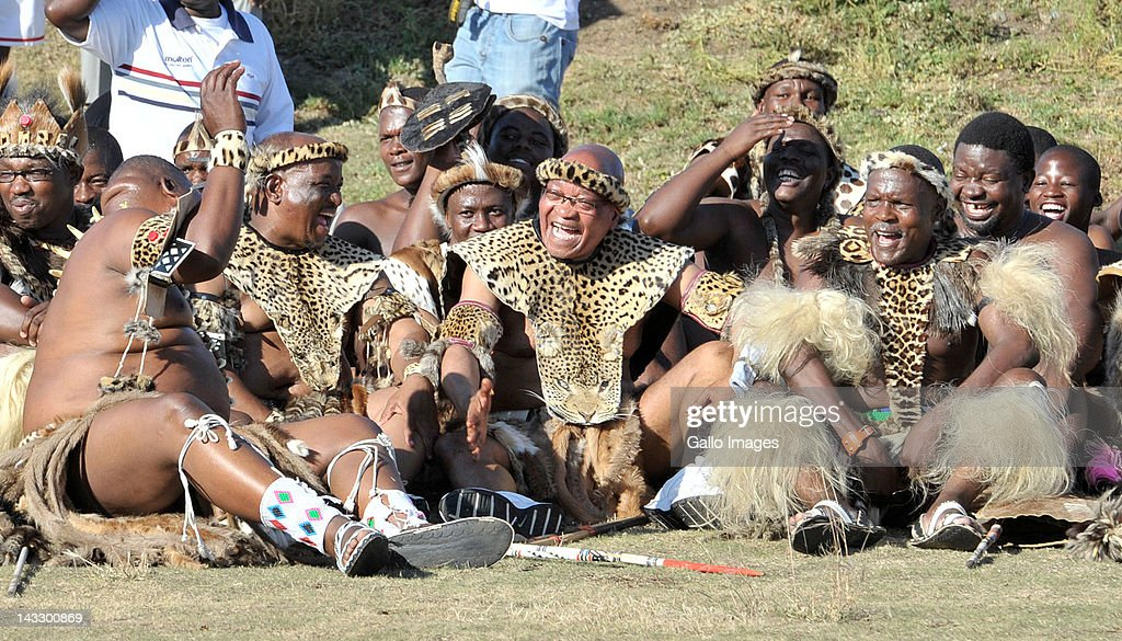 President Jacob Zuma during his traditional wedding ceremony to his fourth wife Bongi Ngema on April 20 in Nkandla South Africa The president who has...