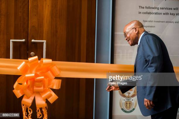 President Jacob Zuma officially launches the Invest South Africa One Stop Shop at the DTI campus on March 17 2017 in Pretoria South Africa The...