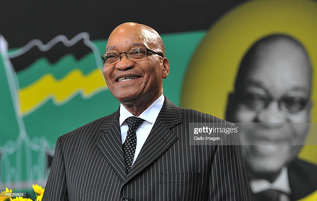 President <a gi-track='captionPersonalityLinkClicked' href=/galleries/search?phrase=Jacob+Zuma&family=editorial&specificpeople=564982 ng-click='$event.stopPropagation()'>Jacob Zuma</a> smiles at the Fort Hare University, where he delivered a lecture in honour of the late fifth President General of the ANC, Pixley Seme, as part of the ANC centenary celebrations, on May 24, 2012 in Alice, South Africa.