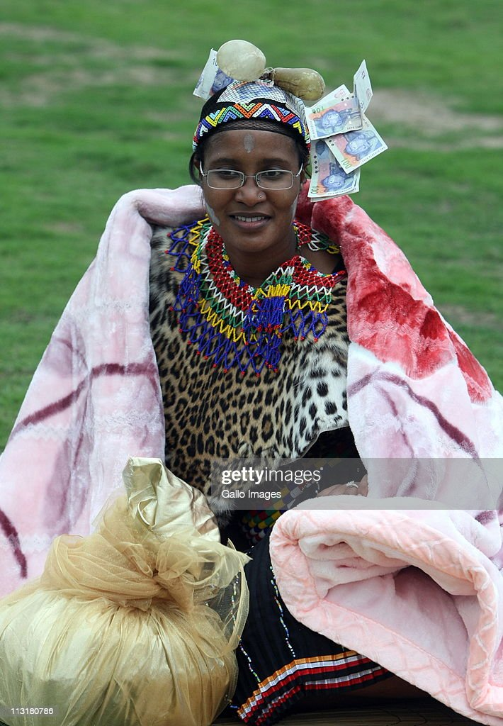 President Jacob Zuma's daughter Duduzile during her uMemulo ceremony at the Zuma homestead in Nkandla on April 21 2011 in KwaZulu Natal South Africa