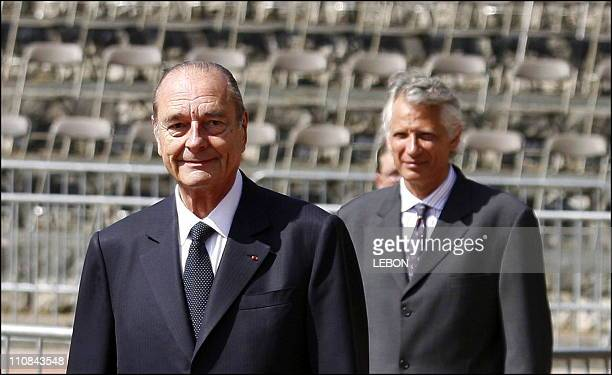 President Jacques Chirac At The Mont Valerien For The Commemoration Of Charles De Gaulle'S June 18 1940 Call In Paris France On June 18 2006...