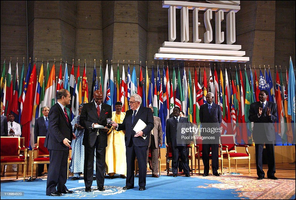 President Jacques Chirac receives the Oriental catholic patriarches In Paris, France On May 15, 2006 -Senegalese president Abdoulaye Wade receives the '2005 Houphouet-Boigny Prize for the Peace research' surrounded by Unesco CEO Koichiro Matsuura (L) and former president Henri Kissinger (R) at the Unesco headquarters in Paris, France, on May 16, 2006.