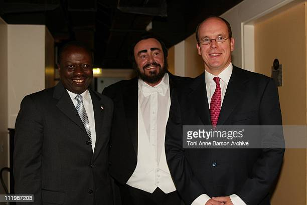 FAO President Jacques Diouf Luciano Pavarotti HSH Prince Albert of Monaco Backstage