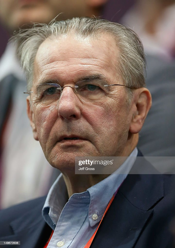 President <a gi-track='captionPersonalityLinkClicked' href=/galleries/search?phrase=Jacques+Rogge&family=editorial&specificpeople=206143 ng-click='$event.stopPropagation()'>Jacques Rogge</a> attends the Men's Preliminaries Group B match between Spain and Korea on Day 6 of the London 2012 Olympic Games at The Copper Box on August 2, 2012 in London, England.