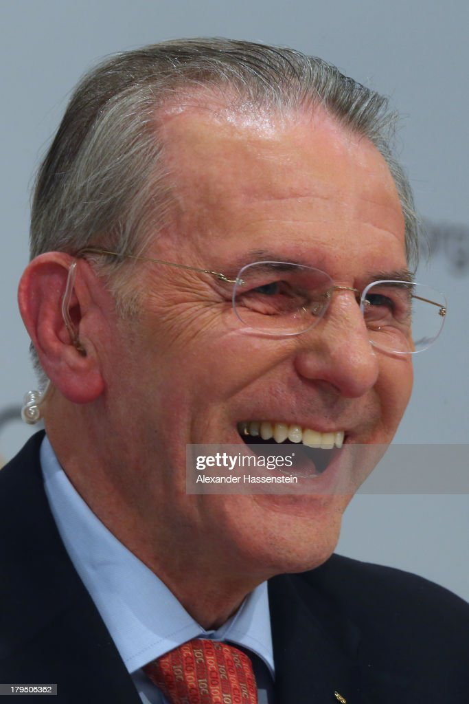IOC president <a gi-track='captionPersonalityLinkClicked' href=/galleries/search?phrase=Jacques+Rogge&family=editorial&specificpeople=206143 ng-click='$event.stopPropagation()'>Jacques Rogge</a> smiles during a IOC press conference ahead of the 125th IOC Session at the Hilton Hotel on September 4, 2013 in Buenos Aires, Argentina.