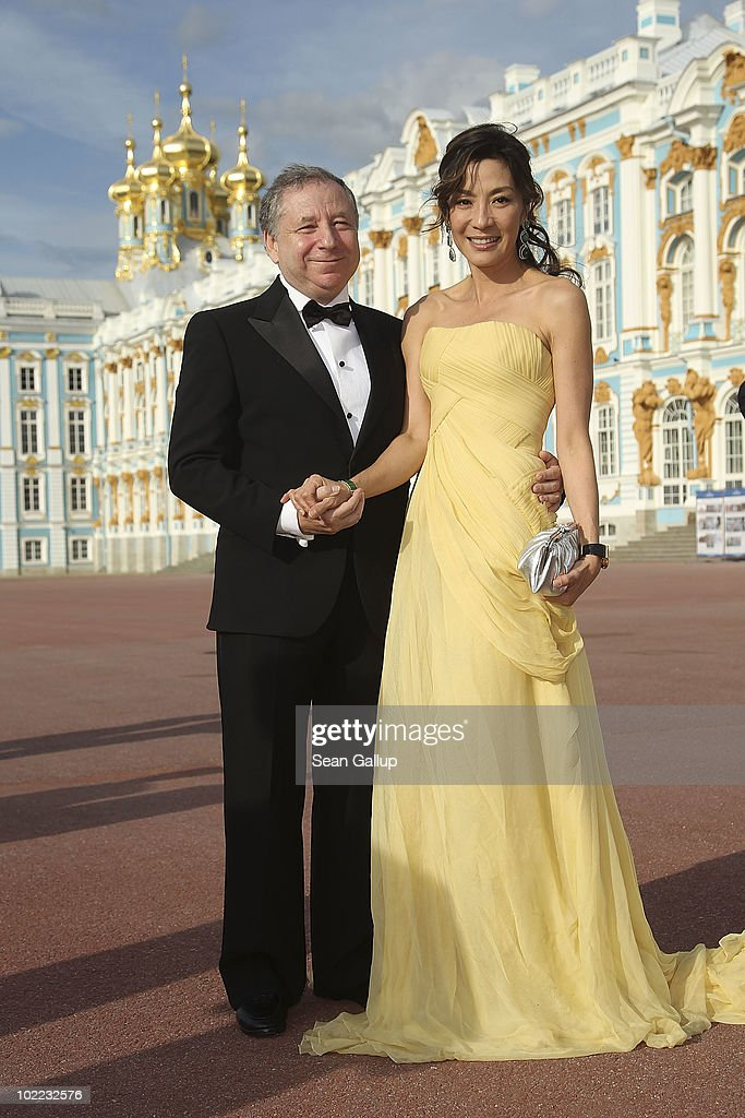President <a gi-track='captionPersonalityLinkClicked' href=/galleries/search?phrase=Jean+Todt&family=editorial&specificpeople=206323 ng-click='$event.stopPropagation()'>Jean Todt</a> and wife <a gi-track='captionPersonalityLinkClicked' href=/galleries/search?phrase=Michelle+Yeoh&family=editorial&specificpeople=223894 ng-click='$event.stopPropagation()'>Michelle Yeoh</a> attend the Mariinsky Ball of Montblanc White Nights Festival at Catherine Palace on June 19, 2010 in Pushkin near Saint Petersburg, Russia.