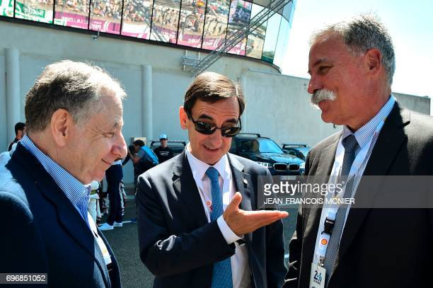 FIA President Jean Todt France's President of the Automobile Club de lOuest Pierre Fillon in charge of the organisation of the Le Mans 24hours...