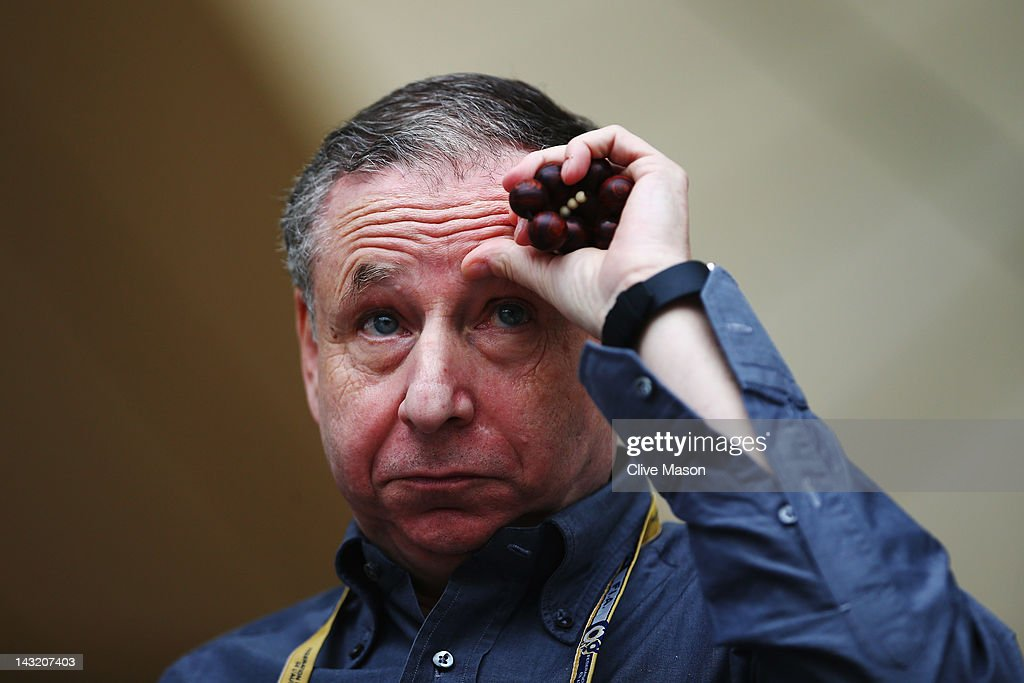 A. President <a gi-track='captionPersonalityLinkClicked' href=/galleries/search?phrase=Jean+Todt&family=editorial&specificpeople=206323 ng-click='$event.stopPropagation()'>Jean Todt</a> sits in the F.I.A. hospitality unit in the paddock following qualifying for the Bahrain Formula One Grand Prix at the Bahrain International Circuit on April 21, 2012 in Sakhir, Bahrain.
