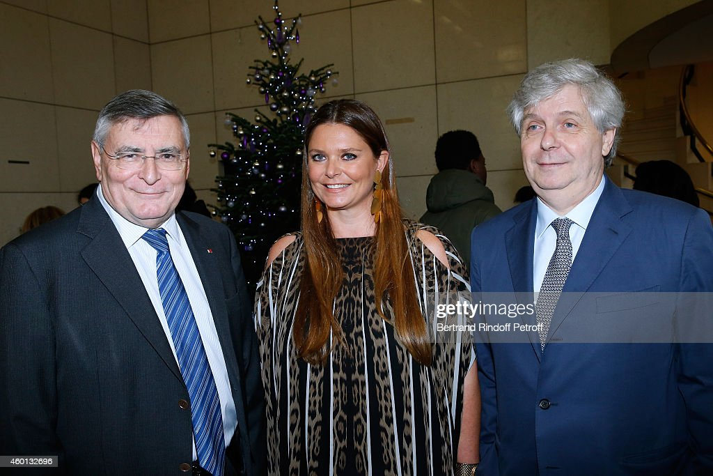 President <a gi-track='captionPersonalityLinkClicked' href=/galleries/search?phrase=Jean-Louis+Beffa&family=editorial&specificpeople=769413 ng-click='$event.stopPropagation()'>Jean-Louis Beffa</a>, President of committee 'Reve d'enfants 2014' Karin Rudnicki-Schlumberger and Director of the National Opera Stephane Lissner attend the Matinee 'Reve d'enfants' with Opera 'Casse Noisette'. Organized by AROP at Opera Bastille on December 7, 2014 in Paris, France.