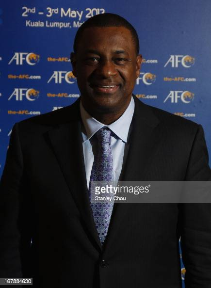 President Jeffrey Webb poses for photographs during the 2013 AFC Congress at the Mandarin Oriental Hotel on May 2 2013 in Kuala Lumpur Malaysia