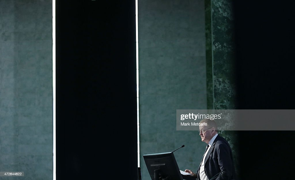 President <a gi-track='captionPersonalityLinkClicked' href=/galleries/search?phrase=John+Coates&family=editorial&specificpeople=233445 ng-click='$event.stopPropagation()'>John Coates</a> speaks during the Australian Olympic Committee Annual General Meeting at Museum of Contemporary Art on May 9, 2015 in Sydney, Australia.