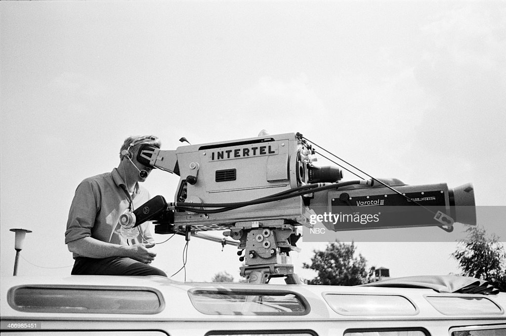 NBC NEWS -- 'President John F. Kennedy 1963 European Tour' -- Pictured: Cameraman during President John F. Kennedy's European Tour on June 23, 1963 in Bonn, West Germany --