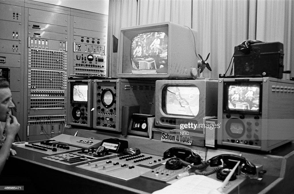 NBC NEWS -- 'President John F. Kennedy 1963 European Tour' -- Pictured: Control room during President John F. Kennedy's European Tour on June 23, 1963 in Bonn, West Germany --