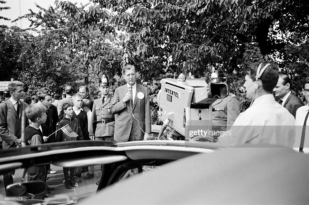 NBC NEWS -- 'President <a gi-track='captionPersonalityLinkClicked' href=/galleries/search?phrase=John+F.+Kennedy+-+US+President&family=editorial&specificpeople=70027 ng-click='$event.stopPropagation()'>John F. Kennedy</a> 1963 European Tour' -- Pictured: NBC News' Ray Scherer during President <a gi-track='captionPersonalityLinkClicked' href=/galleries/search?phrase=John+F.+Kennedy+-+US+President&family=editorial&specificpeople=70027 ng-click='$event.stopPropagation()'>John F. Kennedy</a>'s European Tour on June 23, 1963 in Bonn, West Germany --