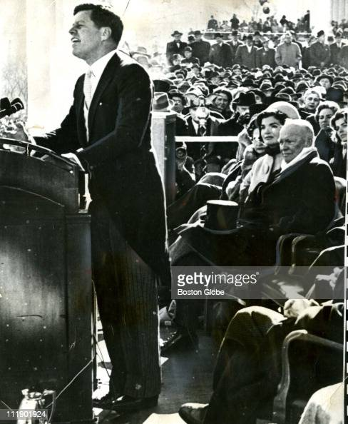 Image result for jfk inaugural address getty images