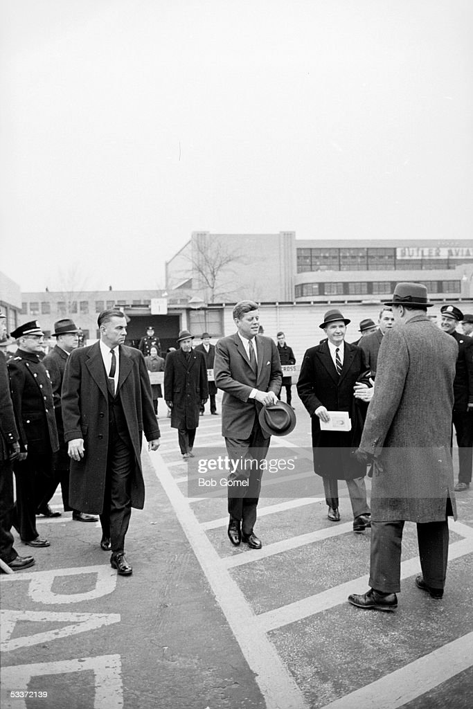 President John F Kennedy meeting builder Robert Moses