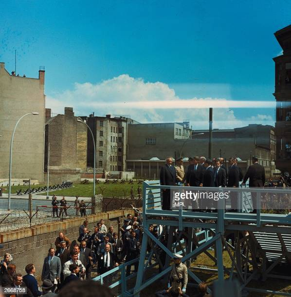 President John F Kennedy on a visit to the Berlin wall
