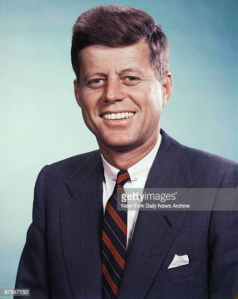 President John F Kennedy photographed in the Daily News color studio