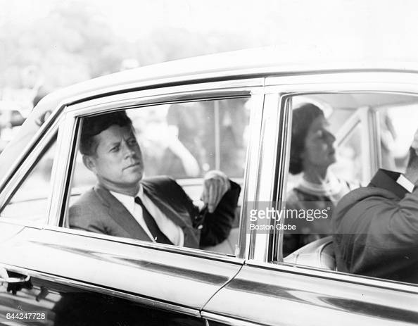 President John F Kennedy sits in a car in Boston on Aug 8 1963 His third son Patrick Bouvier Kennedy was born in Falmouth Mass on Aug 7 born five and...