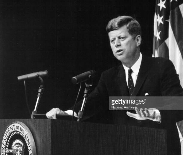President John F Kennedy speaks at a press conference September 13 1962