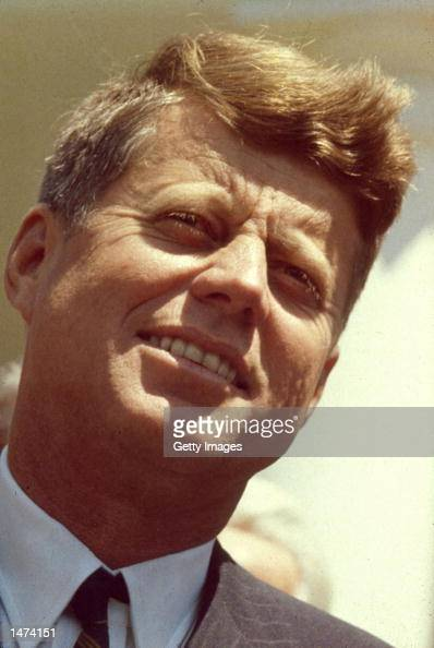 US President John Fitzgerald Kennedy is shown in this 1960 photograph His presidential career spanned the Bay of Pigs invasion the Cuban Missile...
