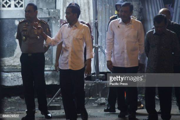 President Joko 'Jokowi' Widodo along with Vice President Jusuf Kalla Chief of State Intelligence Agency Budi Gunawan and Deputy Chief of Indonesian...