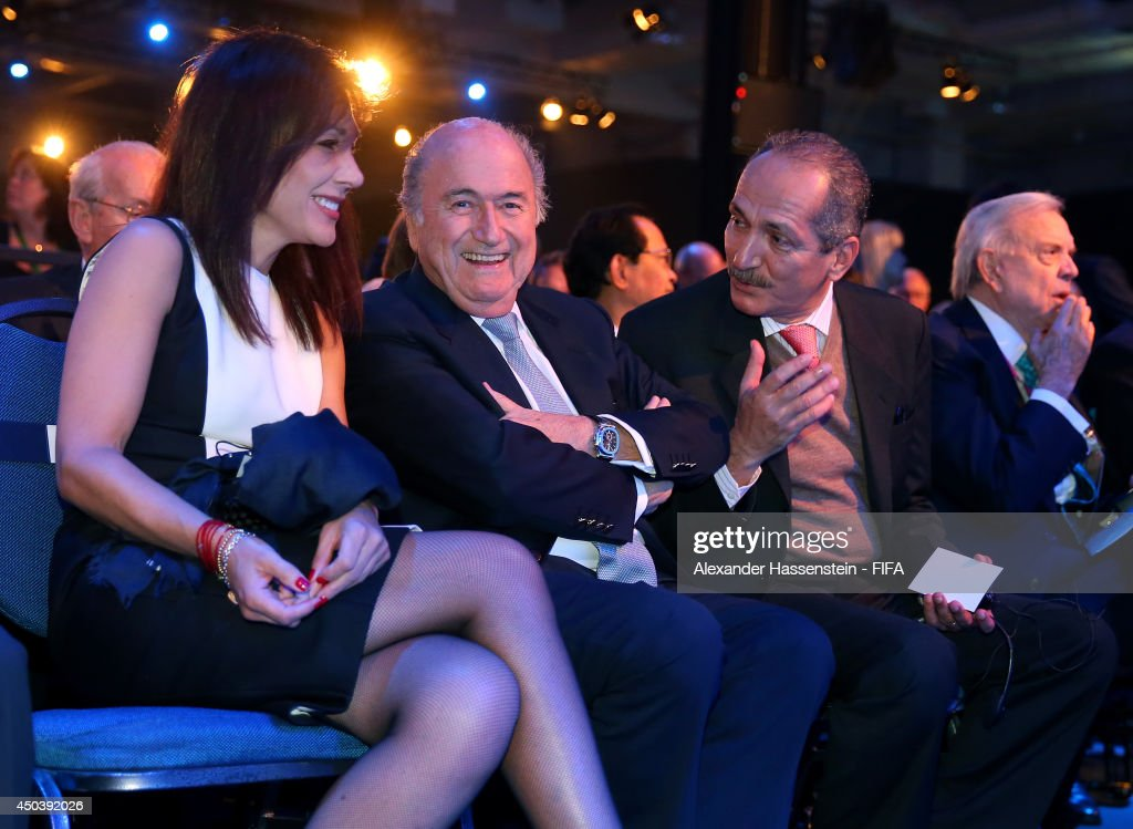 President Joseph Blatter (C), <a gi-track='captionPersonalityLinkClicked' href=/galleries/search?phrase=Linda+Barras&family=editorial&specificpeople=10484321 ng-click='$event.stopPropagation()'>Linda Barras</a> and Brazil sports minister <a gi-track='captionPersonalityLinkClicked' href=/galleries/search?phrase=Aldo+Rebelo&family=editorial&specificpeople=772117 ng-click='$event.stopPropagation()'>Aldo Rebelo</a> attend the Opening Ceremony of the 64th FIFA Congress at the Transamerica Expo Center on June 10, 2014 in Sao Paulo, Brazil.