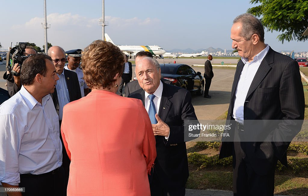 FIFA President Joseph S. Blatter Meets with President of Brazil - FIFA Confederation Cup Brazil 2013