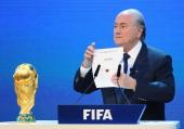 President Joseph S Blatter reveals that Qatar will host the 2022 FIFA World Cup on December 2 2010 in Zurich Switzerland