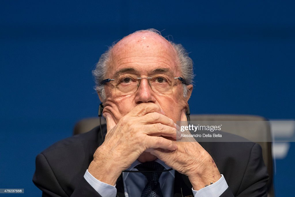 President Joseph S. Blatter talks to the press during the FIFA Post Congress Week Press Conference at the Home of FIFA on May 30, 2015 in Zurich, Switzerland.