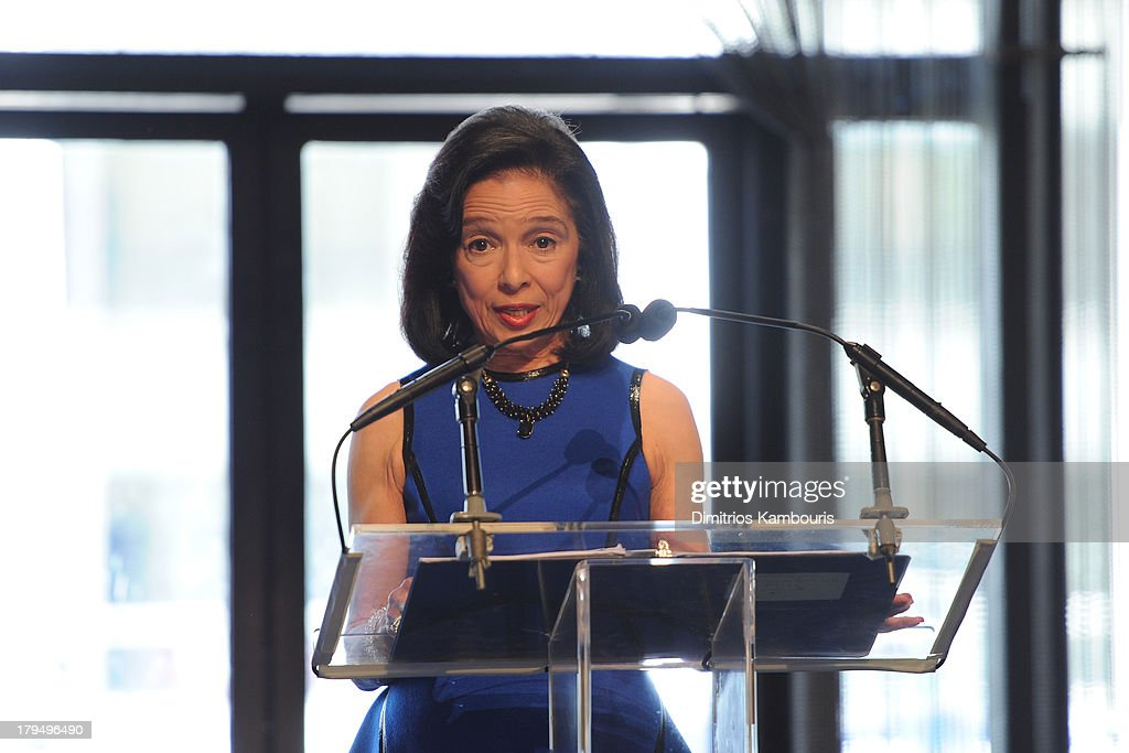 President Joyce F. Brown speaks at The Couture Council of The Museum at the Fashion Institute of Technology hosted luncheon honoring Michael Kors with the 2013 Couture Council Award on September 4, 2013 in New York City.