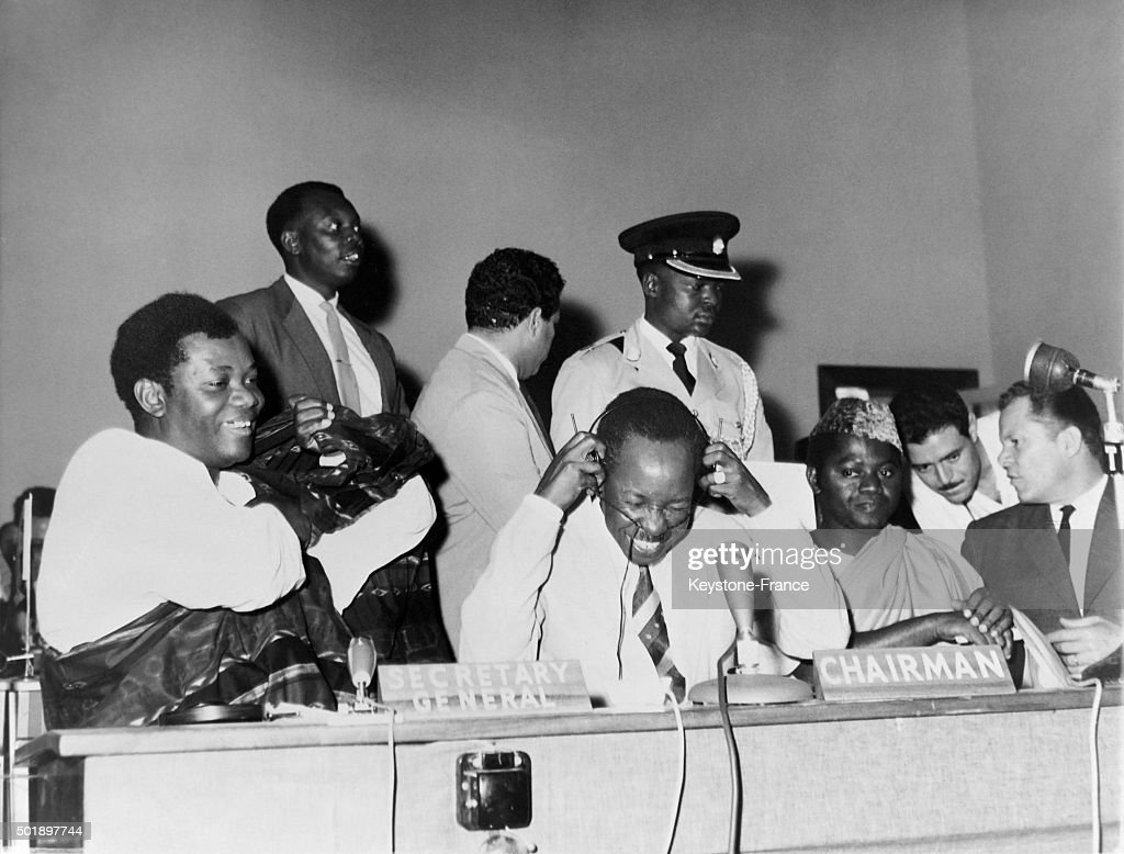 President <a gi-track='captionPersonalityLinkClicked' href=/galleries/search?phrase=Julius+Nyerere&family=editorial&specificpeople=228294 ng-click='$event.stopPropagation()'>Julius Nyerere</a> During His Speech At The African Asiatic Solidarity Conference Attended By Delegations From Burundi, Kenya, Uganda Among Others, in Moshi, Tanganyika, Tanzania, on February 7, 1963.
