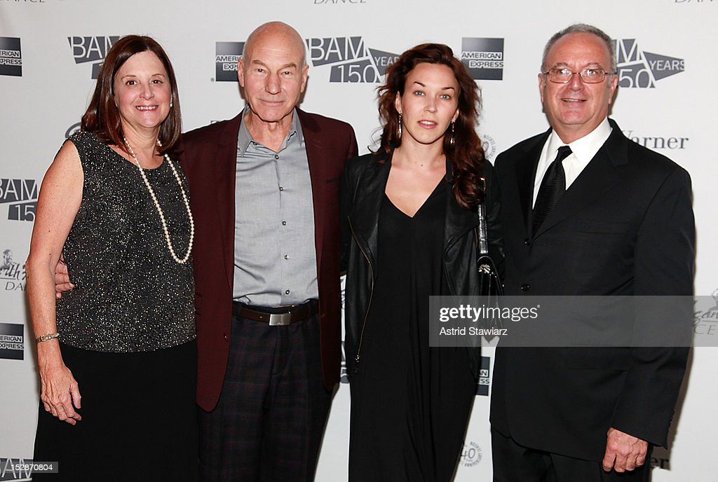 BAM President Karen Brooks Hopkins, <a gi-track='captionPersonalityLinkClicked' href=/galleries/search?phrase=Patrick+Stewart&family=editorial&specificpeople=203271 ng-click='$event.stopPropagation()'>Patrick Stewart</a>, Sunny Ozell and BAM Executive Producer Joseph V. Melillo attend BAM 30th Next Wave Gala at Skylight One Hanson on September 27, 2012 in New York City.