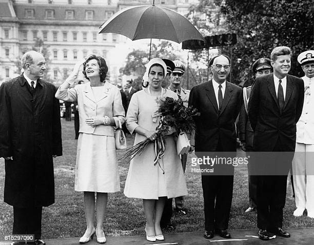 President Kennedy hosting a welcoming ceremony for King Mohammed Zahir Shah of Afghanistan