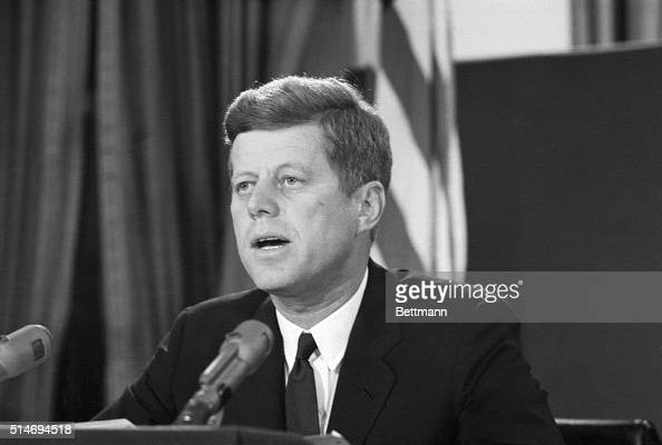 President Kennedy proclaims in a televised speech on October 22 that Cuba has become an offensive Soviet base capable of destruction Kennedy...