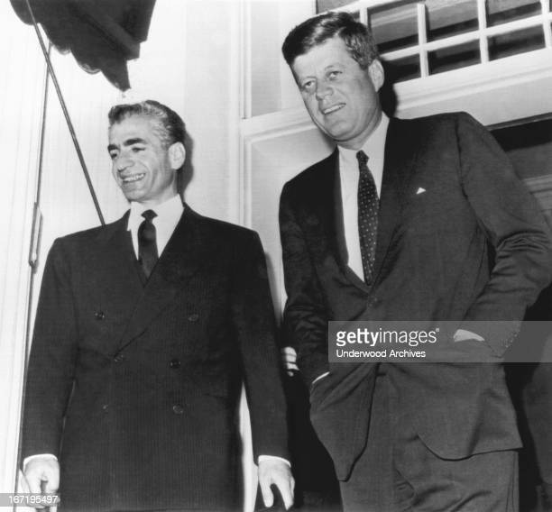 President Kennedy with the Shah of Iran at the White House Washington DC April 12 1962