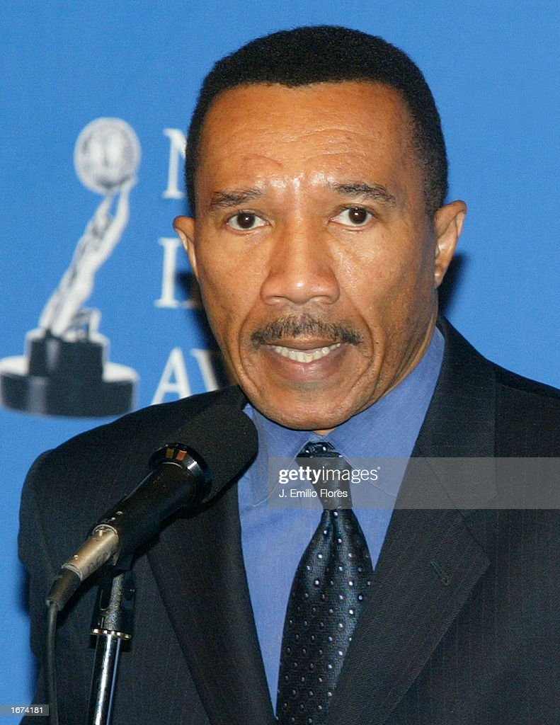 President Kweisi Mfume speaks during the nomination's press conference for the 34th NAACP Image awards on December 5, 2002 in West Hollywood, California. The 34th NAACP Image Awards will be taped at the Universal Amphitheatre March 8, 2003 and will air on March 13th.