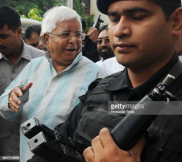 President Lalu Prasad proceeding to appear before a CBI court of Shiv Pal Singh AJC X cum special Judge VII CBI Ranchi in connection of a Fodder Scam...