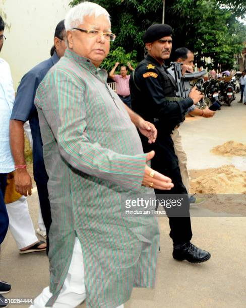 President Lalu Prasad Yadav coming out from court after appearing before a special CBI court in connection of a Fodder Scam case at Court premises on...