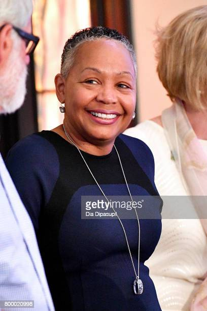 WNBA president Lisa Borders attends the Women's Sports Foundation 45th Anniversary of Title IX celebration at the NewYork Historical Society on June...