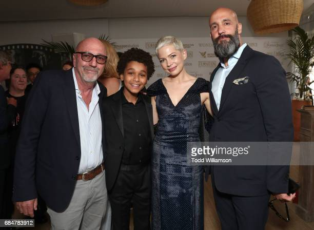 President Lorenzo Soria Jaden Michael Michelle Williams and Worldwide Head of Motion Pictures Jason Ropell attend the 'Wonderstruck' Cannes After...