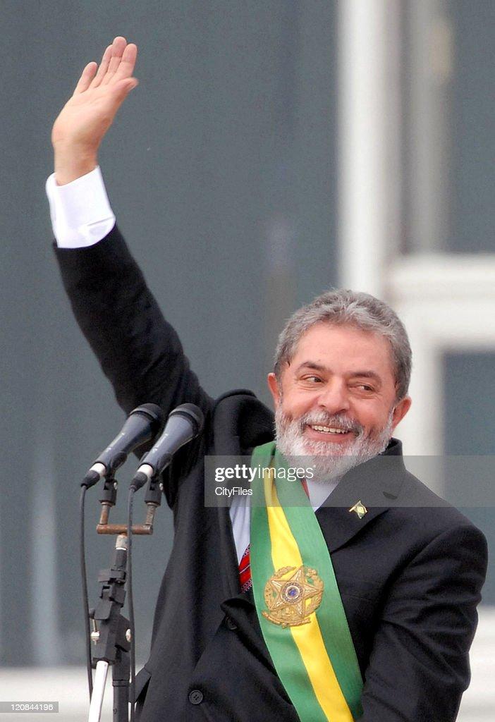President <a gi-track='captionPersonalityLinkClicked' href=/galleries/search?phrase=Luiz+Inacio+Lula+da+Silva&family=editorial&specificpeople=211609 ng-click='$event.stopPropagation()'>Luiz Inacio Lula da Silva</a> during President <a gi-track='captionPersonalityLinkClicked' href=/galleries/search?phrase=Luiz+Inacio+Lula+da+Silva&family=editorial&specificpeople=211609 ng-click='$event.stopPropagation()'>Luiz Inacio Lula da Silva</a> is Sworn in for His 2nd Term in BRASILIA, Brazil.