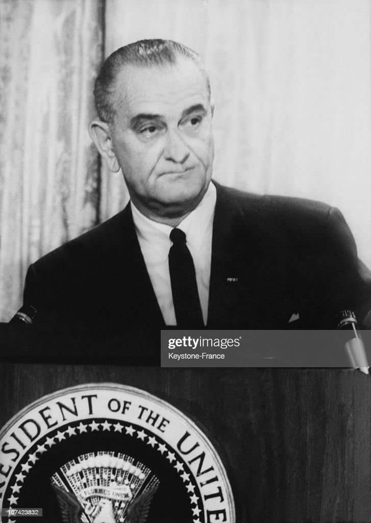 President <a gi-track='captionPersonalityLinkClicked' href=/galleries/search?phrase=Lyndon+Johnson&family=editorial&specificpeople=91450 ng-click='$event.stopPropagation()'>Lyndon Johnson</a> Press Conference About Vietnam War In White House On July 28Th 1965