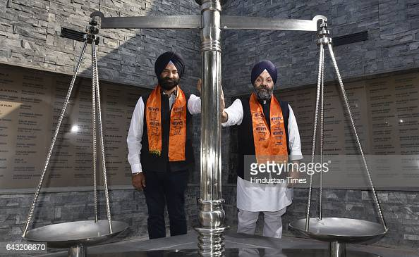 President Manjit Singh GK along with DSGMC general secretary Manjinder Singh Sirsa during the installation of the latters statue at Nabha House the...