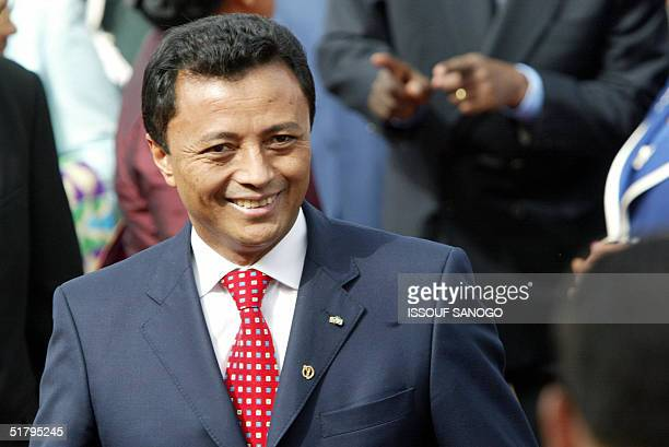 President Marc Ravalomanana of Madagascar arrives for the opening of the Francophone summit 26 November 2004 in Ouagadougou AFP PHOTO ISSOUF SANOGO