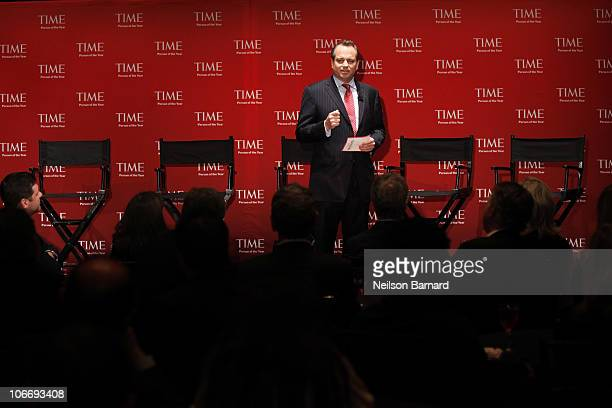 TIME president Mark Ford attends the TIME's 2010 Person of the Year Panel at Time Life Building on November 10 2010 in New York New York
