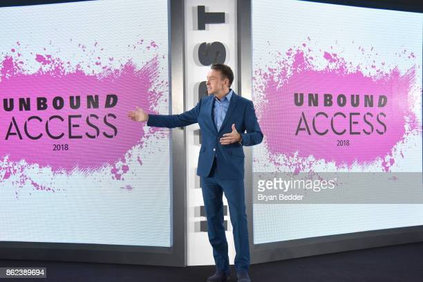 President Marketing and Publishing Director Heart Magazines Michael A Clinton speaks onstage at Hearst Magazines' Unbound Access MagFront at Hearst...