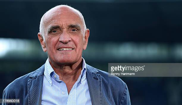 President Martin Kind of Hannover looks on prior to the Bundesliga match between Hannover 96 and 1 FSV Mainz 05 at HDI Arena on August 31 2013 in...