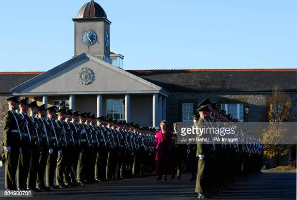President Mary McAleese inspects the Guard of Honour drawn from the 2nd Infantry Battalion at Cathal Brugha Barracks RathminesDublin to mark the...